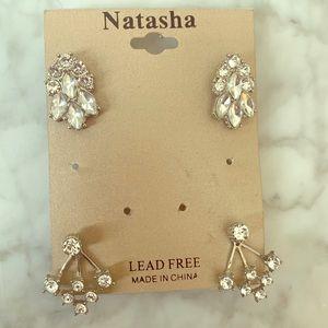 2 pairs of Natasha earrings